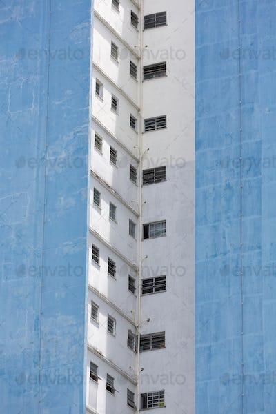 Modern residential dirty buildings in Manaus, Brazil