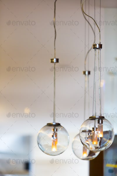 Modern style light bulbs  with clear background