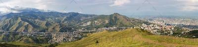 Daylight panorama cityscape of Cali, Colombia
