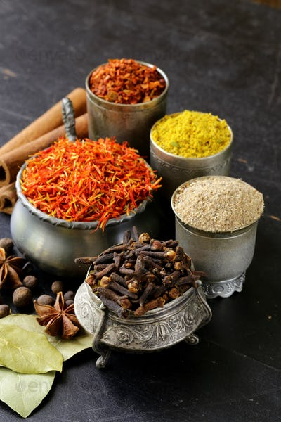 Collection of Various Spices