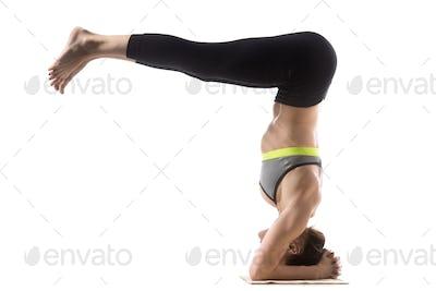 Headstand Half Fold