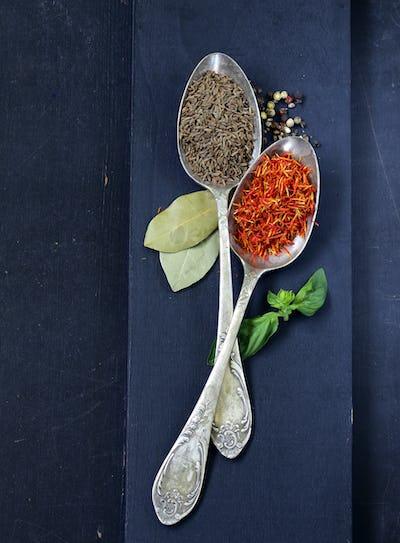 Spice Saffron and Cumin