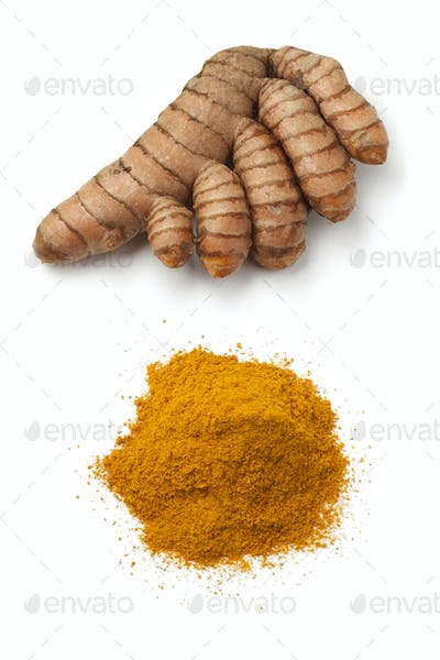 Fresh turmeric rhizome and powder