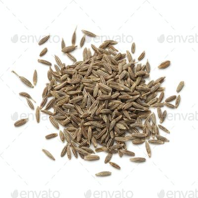 Heap of dried cumin seeds