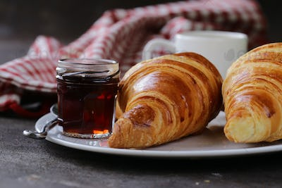 Traditional Croissants with Jam