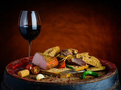 Red Wine and Smoked Meat