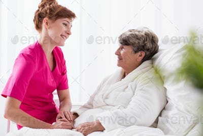 Positive talking to patient