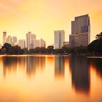 Bangkok at the sunset