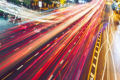 Evening traffic jam