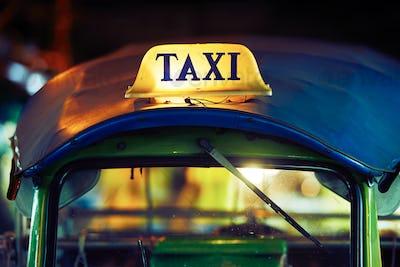 Tuk Tuk Taxi sign