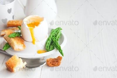 Soft boiled egg background