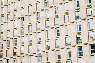 Facade of an hotel in Barcelona