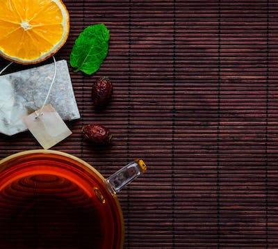 Tea Cup with Sliced Orange