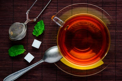 Top View of Black Tea
