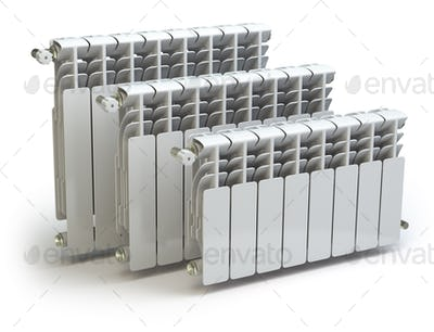 Heating radiators isolated on white