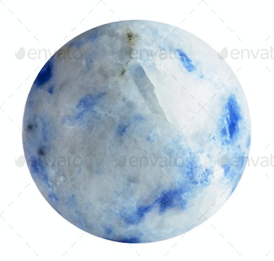 round bead from Sodalite natural mineral gem stone