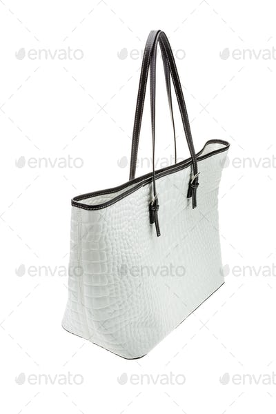 White womens bag isolated on white background.