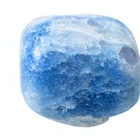 blue coloured agate gemstone isolated