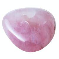 specimen of rose quartz gemstone isolated