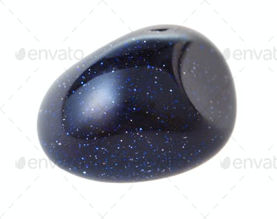blue goldstone from glittering glass isolated
