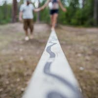 Learning to walk on a tightrope, and keep the balance.