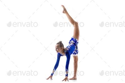 Ballerina doing standing splits