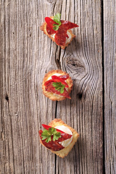 Tartlet canapes