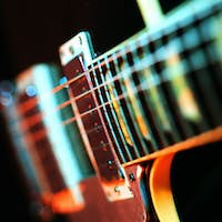 Electric guitar colorful abstract