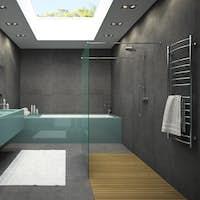Interior of bathroom with ceiling window 3D rendering 4