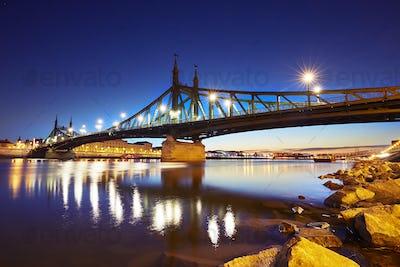 Amazing dawn in Budapest