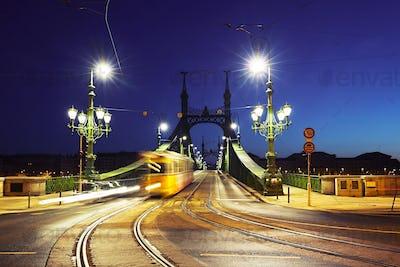 Tram on Liberty Bridge