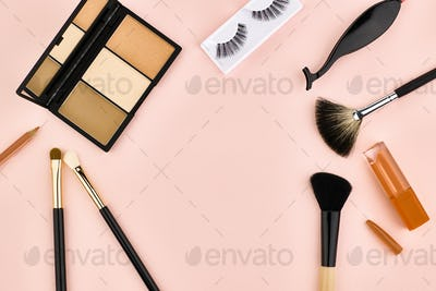 Overhead set, fashion woman essentials cosmetics