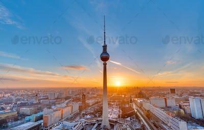 Beautiful sunset in Berlin