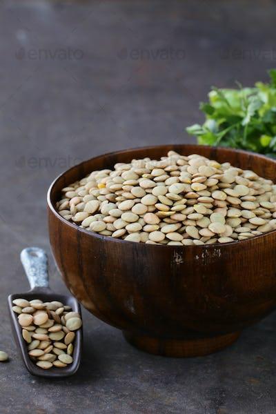 Natural Organic Green Lentils