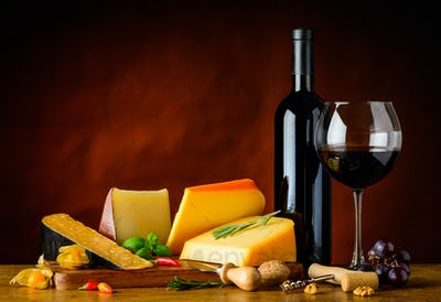 Gouda Cheese and Red Wine