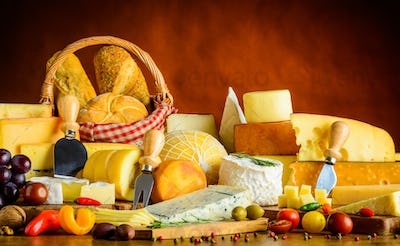 Table with Cheese Products