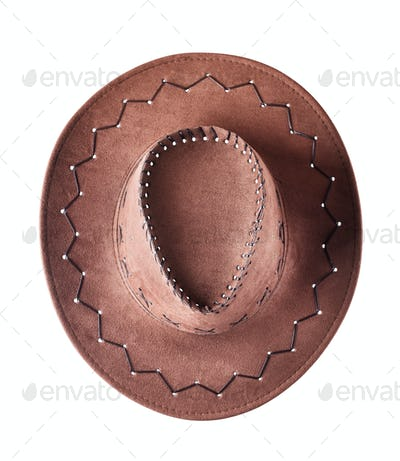 Shot from above cowboy hat