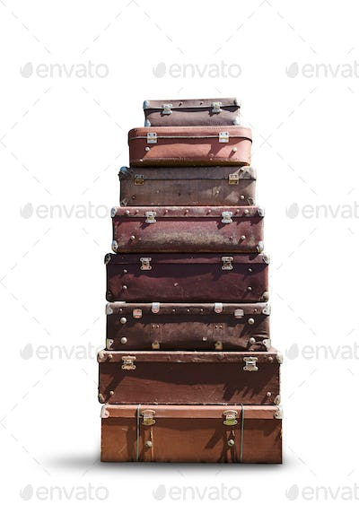 Heap of suitcases