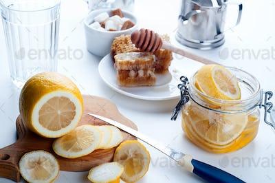 Honey, lemon and ginger tonic
