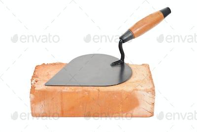 Trowel on brick