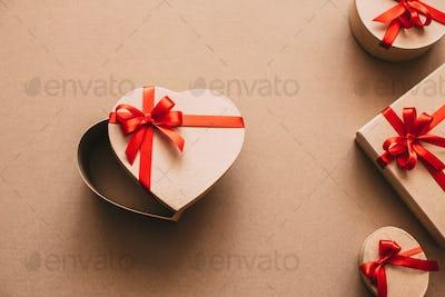 Open heart shaped box.