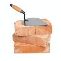 Trowel on bricks