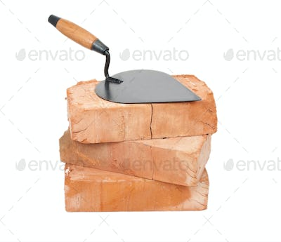 Trowel on bricks