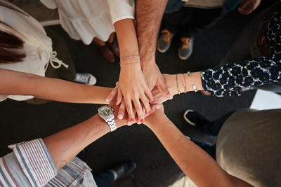Symbol of teamwork, cooperation and unity