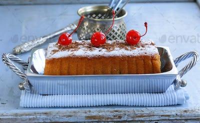 Pound Cake with Powdered Sugar