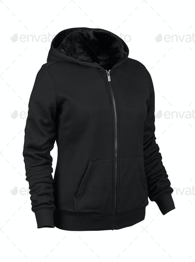 Hoodie on white background