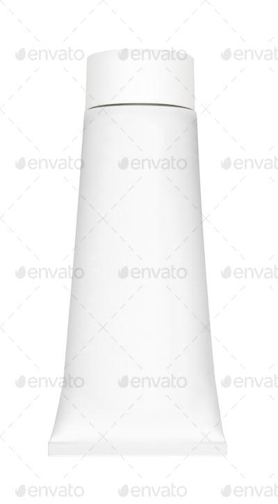 white tube on white background
