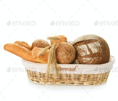Bakery Bread Over White