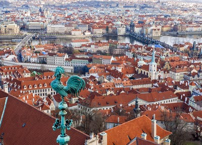 The view over Prague from the Saint Vitus Cathedral
