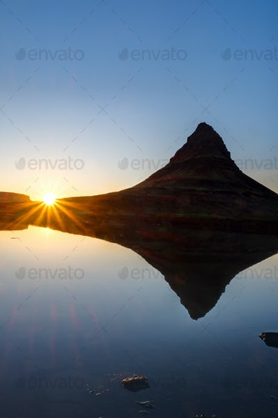 Sunset at Mount Kirkjufell, Iceland